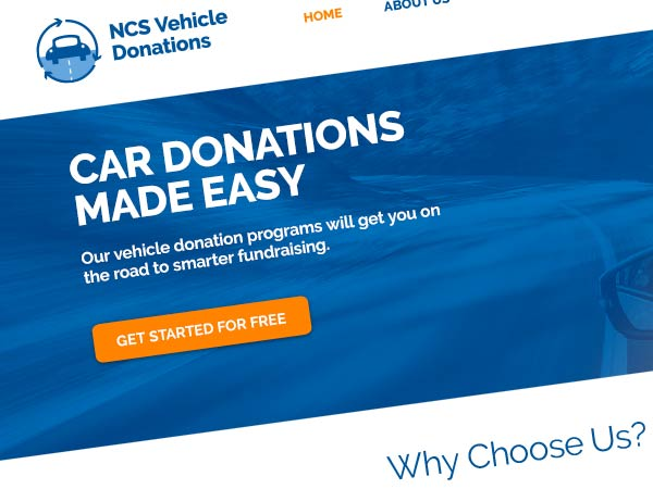 Thumbnail of NCS Vehicle Donations Website